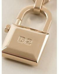 DSquared² - Metallic Padlock Brooch - Lyst