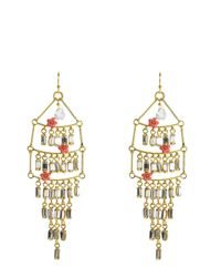 Juicy Couture | Metallic Multi Layer Chandlier Earring | Lyst