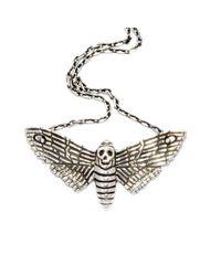 The Wildness Jewellery - Metallic Death Moth Pendant - Lyst