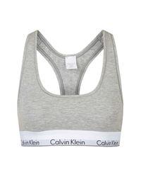 TOPSHOP | Gray Modern Cotton Bralet By Calvin Klein | Lyst