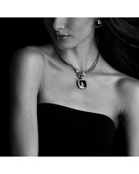 David Yurman | Metallic Albion Earrings, 11mm Gemstone | Lyst