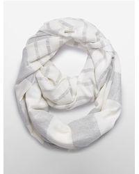 Calvin Klein - White Label Metallic Stripe Infinity Scarf - Lyst