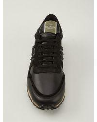 455603dea772 Lyst - Valentino  Rockstud  Trainers in Black for Men