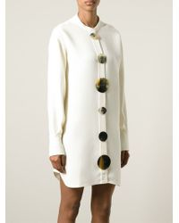 J.W.Anderson - Natural Oversized Button Shirt Dress - Lyst