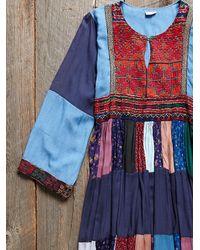 Free People - Multicolor Vintage Denim Patchwork Dress - Lyst