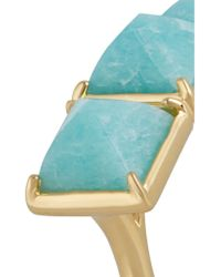 Elizabeth and James - Blue Metropolis Gold-tone Amazonite Ring - Lyst