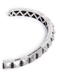 Eddie Borgo | Metallic Pyramid Cuff for Men | Lyst