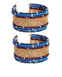 ASOS | Blue Seedbead Anklet Multipack | Lyst