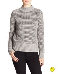 Banana Republic | Gray Factory Tile-stitch Sweater | Lyst