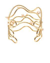 Aurelie Bidermann | Metallic Cheyne Walk Freshwater Pearl Cuff | Lyst