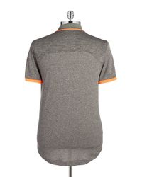 Original Penguin | Gray Heathered Performance Polo for Men | Lyst