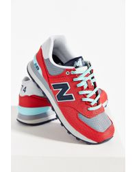New Balance | Red 574 Winter Harbor Running Sneaker | Lyst