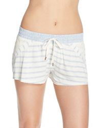 Splendid | Blue French Terry Lounge Shorts | Lyst