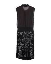 Lanvin - Black Short Dress - Lyst