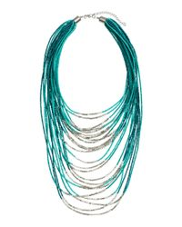 H&M - Green Multistrand Necklace - Lyst