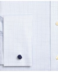 Brooks Brothers - Blue Non-iron Milano Fit Glen Plaid Dress Shirt for Men - Lyst