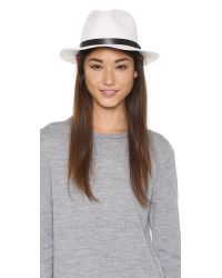 Rag & Bone | White Abbott Fedora - Heather Grey | Lyst