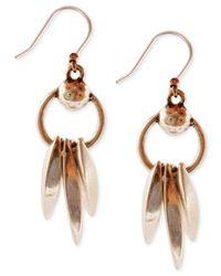 Lucky Brand | Metallic Dangle Drop Earrings | Lyst