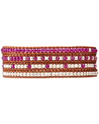 Chan Luu - 32 Dark Purplenatural Brown Wrap Bracelet - Lyst