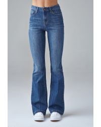 Forever 21 - Blue High-waisted Flare Jeans - Lyst