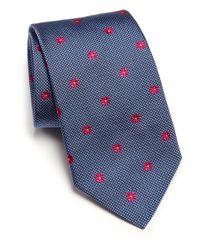 Ike Behar | Blue Neat Box-print Silk Tie for Men | Lyst