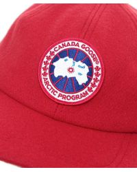 Canada Goose - Red Merino Wool Cap for Men - Lyst