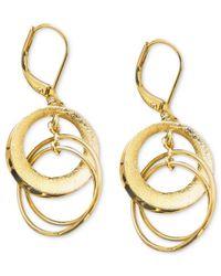 Anne Klein - Metallic Circle Drop Earrings - Lyst