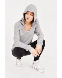Project Social T - Gray So Fluffy Hoodie Sweatshirt - Lyst