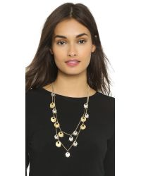 Madewell | Metallic Landon Layering Necklace - Vintage Gold | Lyst
