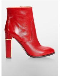 Calvin Klein - Red White Label Karlia High Heel Bootie - Lyst