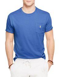 Ralph Lauren | Blue Polo Jersey Pocket Crewneck Tee for Men | Lyst