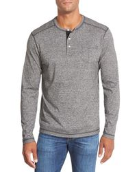Tommy Bahama | Black Long Sleeve Henley for Men | Lyst