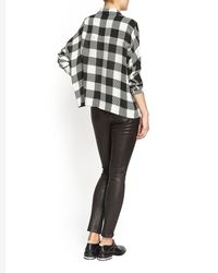 Rag & Bone - Gray Carley Gingham Buttondown Shirt - Lyst