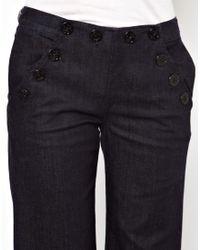 M.i.h Jeans | Blue Valencia Wide Leg Jean in Raw Denim | Lyst