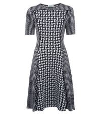 28718f57a4c33 Lyst - KENZO Black and White Graphic Knitted Dress in Black
