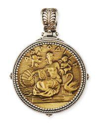 Konstantino - Metallic Silver & Bronze Aphrodite Coin Pendant - Lyst