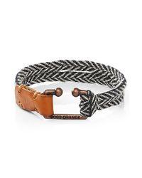 BOSS Orange - Blue Braided Bracelet With Metal Fastening: 'mendrix1' for Men - Lyst