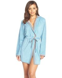 Kensie | Green Print Plush Robe | Lyst