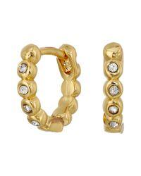 Vince Camuto | Metallic Studded Mini Hinge Huggie Earrings | Lyst