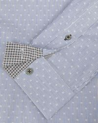 Ted Baker | Blue Debonair Striped Dobby Shirt for Men | Lyst