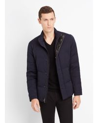 Vince - Blue Heavy Twill Quilted Jacket for Men - Lyst