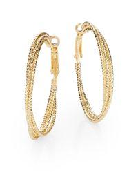 "Saks Fifth Avenue - Metallic Triple Hoop Earrings/1.5"" - Lyst"
