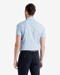 Ted Baker - Blue Striped Fil Coupé Shirt for Men - Lyst