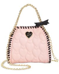 Betsey Johnson | Pink Mini Quilted Chain Handbag | Lyst