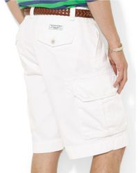Polo Ralph Lauren | White Relaxed-Fit Classic Cargo Shorts for Men | Lyst