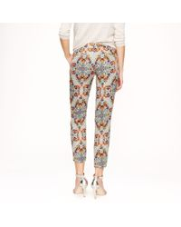 J.Crew | Multicolor Collection Pant in Misty Fog Floral | Lyst