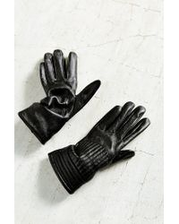 Urban Outfitters | Black Moto Rib Leather Glove | Lyst