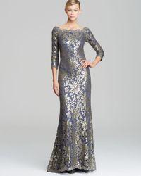 Tadashi Shoji | Off-Shoulder Metallic Lace Gown | Lyst