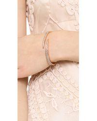 Michael Kors | Metallic Matchstick Open Cuff Bracelet Rose Goldclear | Lyst