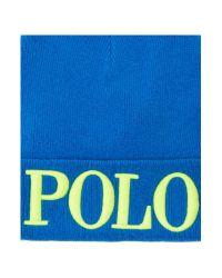 Polo Ralph Lauren   Blue Beanie Hat for Men   Lyst